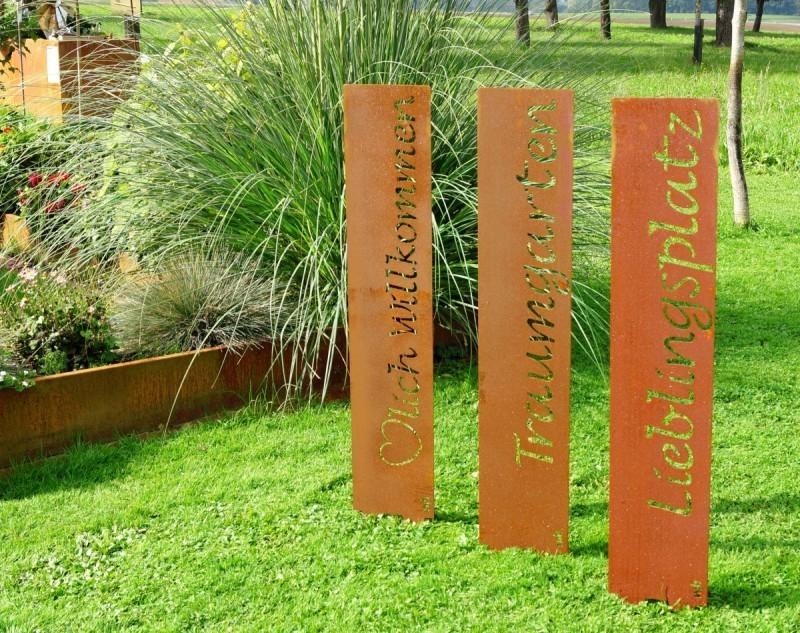 Gartenstele edelrost liebe for Garten edelrost