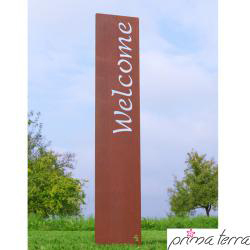 "Gartenstele Edelrost ""WELCOME"""